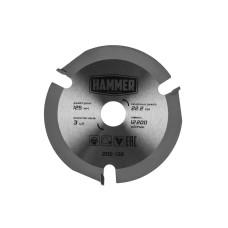 Диск пильный Hammer для УШМ 125*3*22.2мм по дереву/205-136