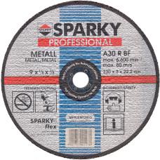 Круг   125*3*22,2, отрезной по металлу,А30R,10шт/190902/SPARKY