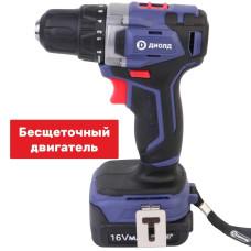 Дрель-шуруповерт аккумуляторная Диолд ДЭА-16Л-08 б/щеточная