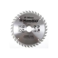Диск пильный,HAMMER 205-112, 190*30/20мм-36зуб